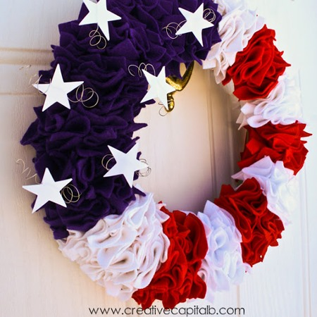 diy Ruffled Patriotic Wreath tutorial