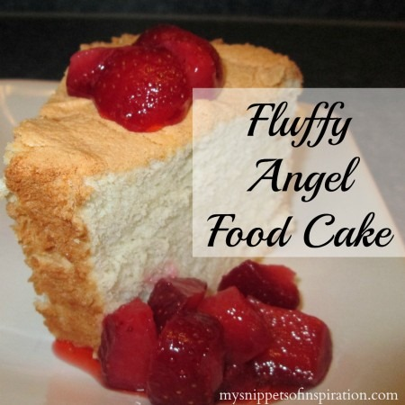 angel food cake, one of six 4th of july recipes