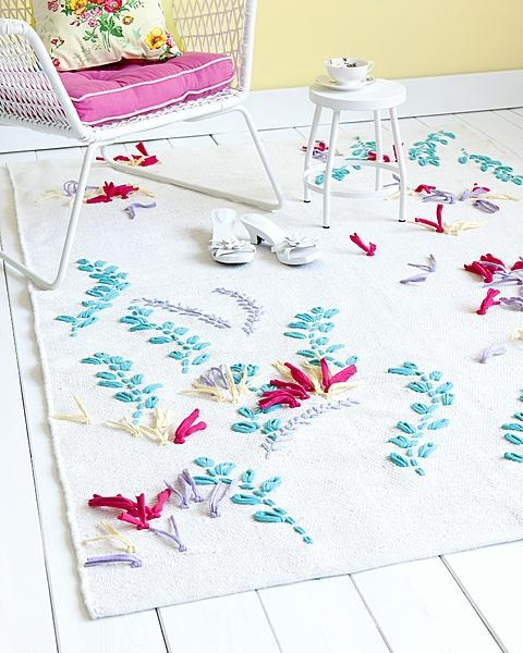 How to make embroidered rugs