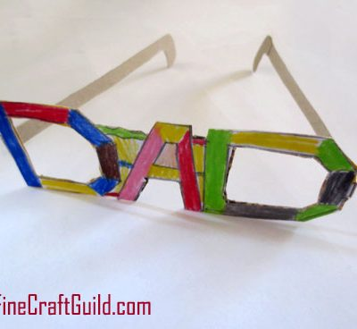 Funky Eyeglasses as DIY Fathers Day Card