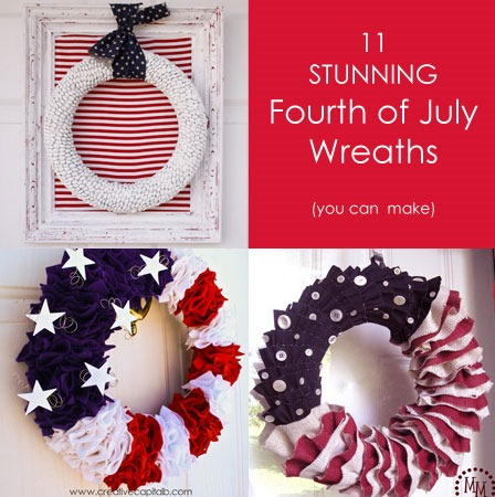 diy fourth of july wreaths tutorials