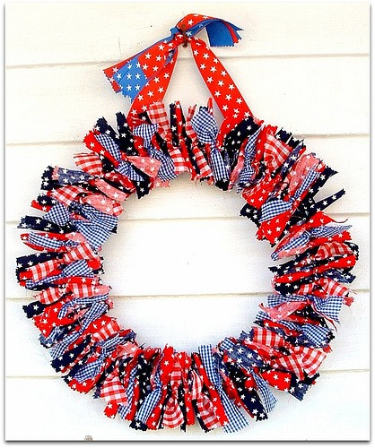 diy fourth of july wreaths rags