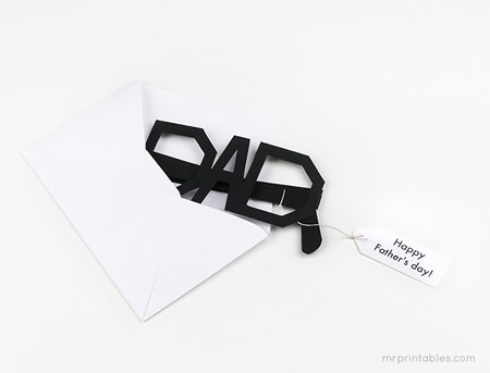 free printable Fathers day cards glasses