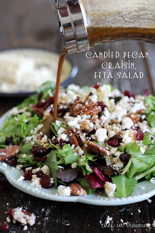 candied pecans cranberry feta salad recipe :: fineCraftGuild.com