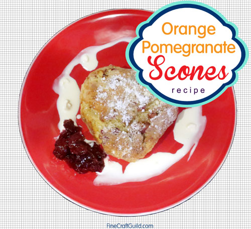 orange pomegranate scones recipe
