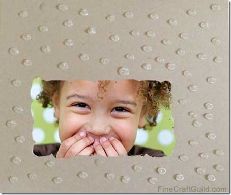 diy cardboard picture frames cool crafts for kids embossing with glue - Diy Cardboard Picture Frame