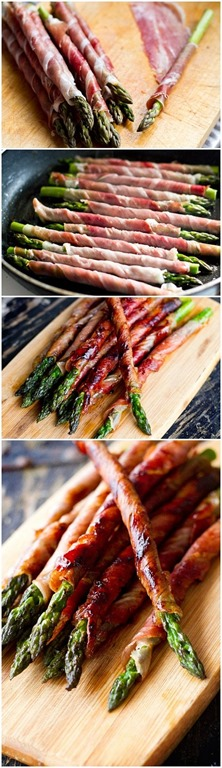 proscutto wrapped asparagus recipe  :: summer recipes  :: FineCraftGuild.com