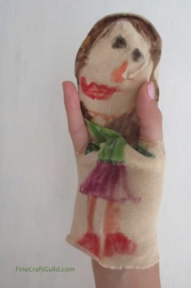 recycled sock crafts :: sock puppet :: summer kids crafts