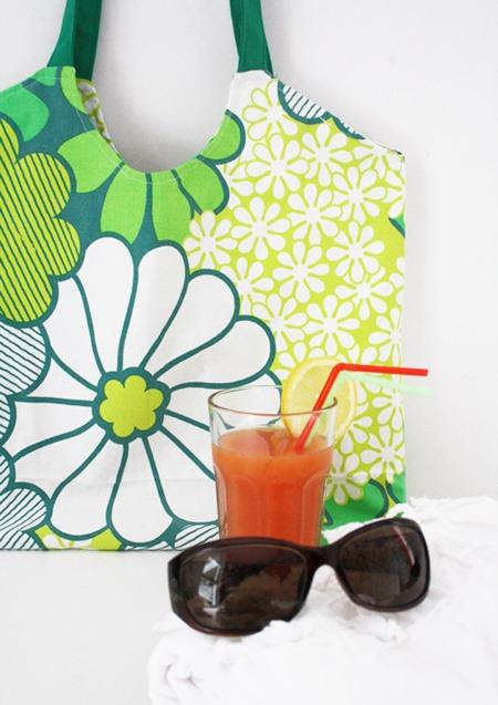 summer crafts beach tote bag