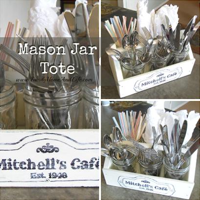 Cutlery Carrier Mason jar crafts