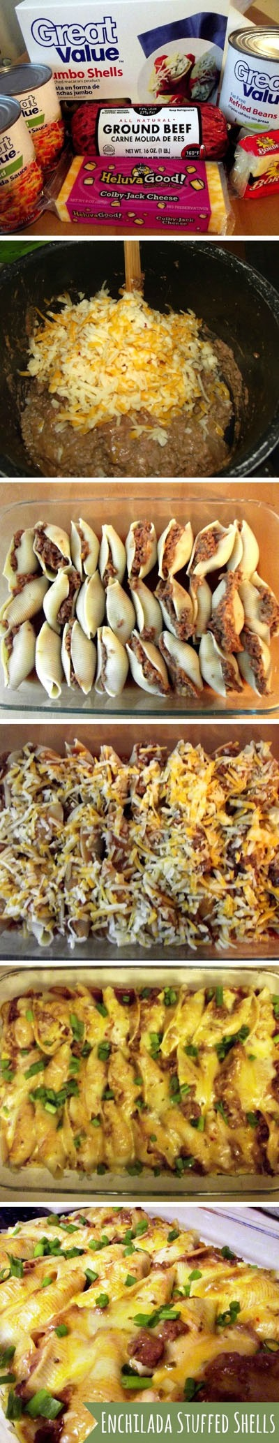 Enchilada-Stuffed-Shells