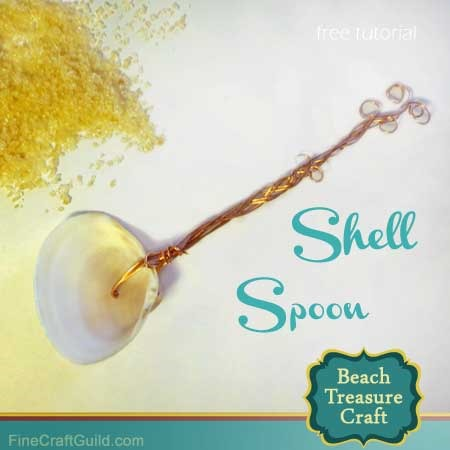 diy beach decor seashells crafts shell spoon