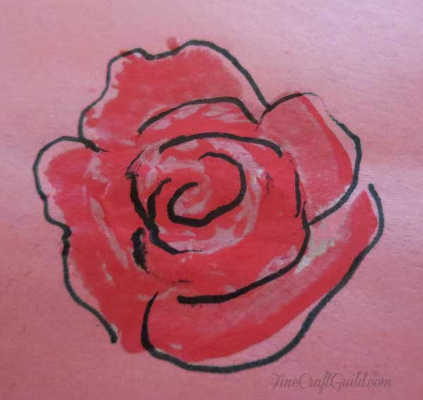 make your own stamps :: rose stamp :: finecraftguild.com