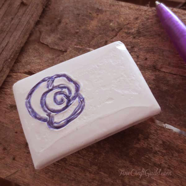 how to carve stamps :: diy eraser stamp :: finecraftguild.com