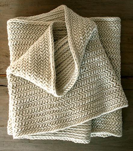 Herringbone Infinity Scarf Free Knitting Pattern