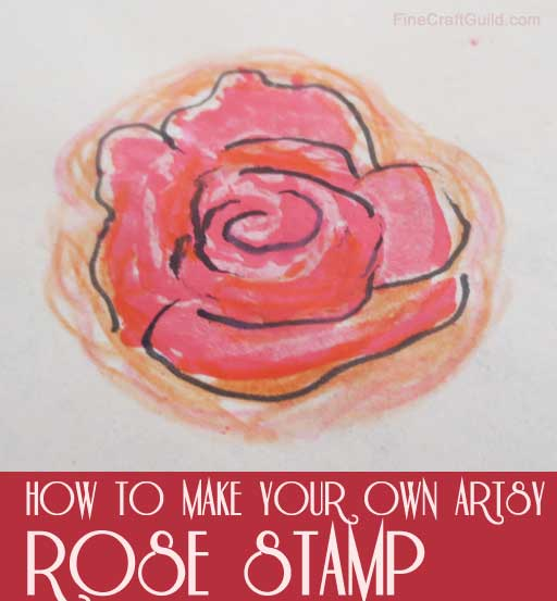 how to carve a stamp :: rose stamps :: finecraftguild.com