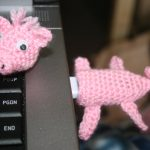 piggy usb stick cozy crochet pattern