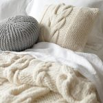 Simple Free Cushion Knitting Pattern with Cable