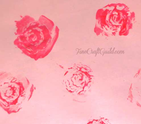 how to carve stamps :: rose stamps :: FineCraftGuild.com