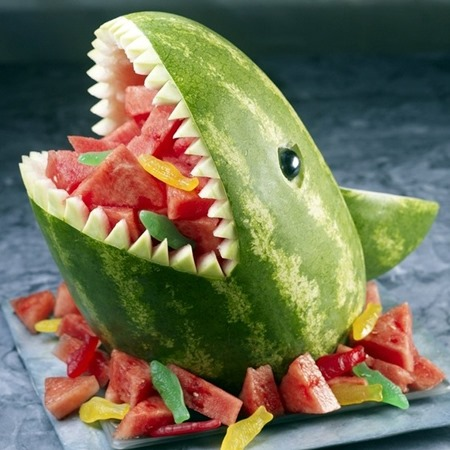 shark watermelon  :: shark crafts diy :: free tutorials :: FineCraftGuild.com