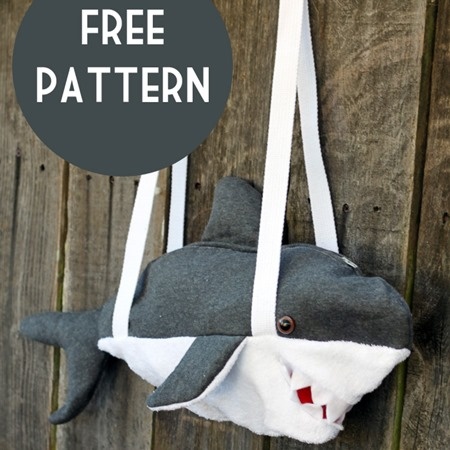 shark bag sewing pattern :: shark crafts diy :: free tutorials :: FineCraftGuild.com