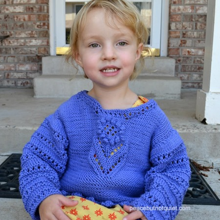toddler sweater flower knitting pattern