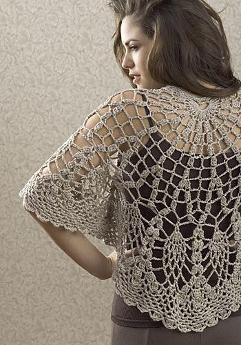 Gorgeous Goddess Shrug Crochet Pattern