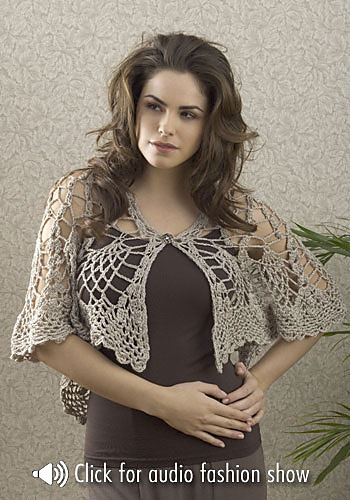 Gorgeous Goddess Shrug Crochet Pattern