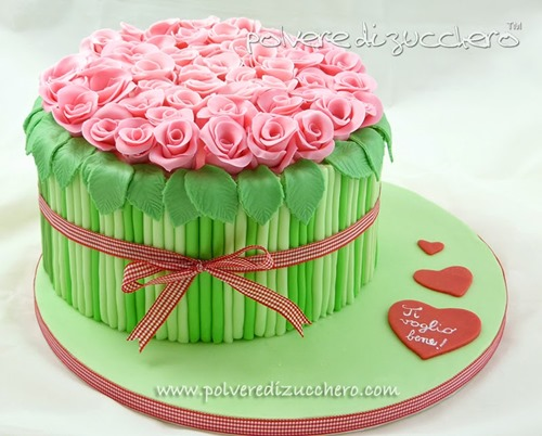 bouquet roses cake decorating tutorial