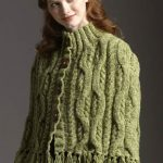 Cable Cape-Cardigan :: Free Knitting Pattern