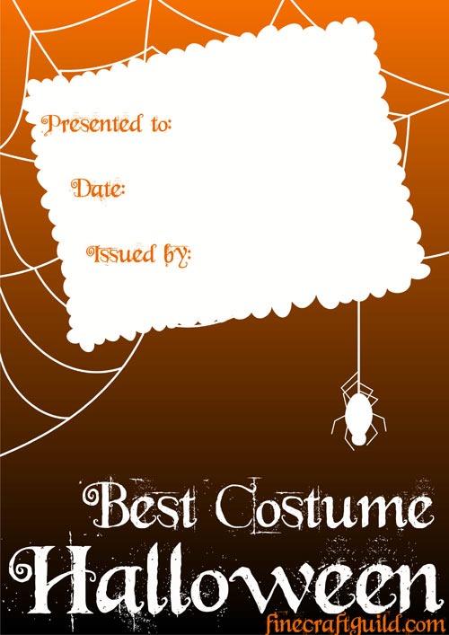 free downloadable Halloween Template :: Certificate Templates :: FineCraftGuild.com