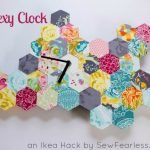 Hexagon Quilt Clock Tutorial (Ikea Hack)
