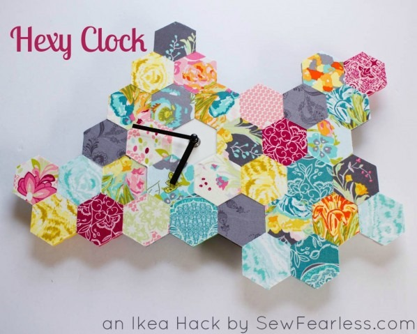 ikea hack hexagon quilt clock