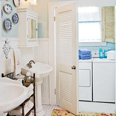 pretty bathroom with laundry room ideas photos >> stacked washer and Bathroom Laundry Room Ideas