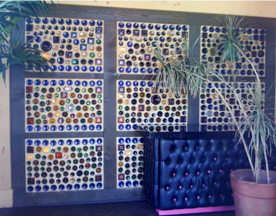 recycled bottle walls :: FineCraftGuild.com