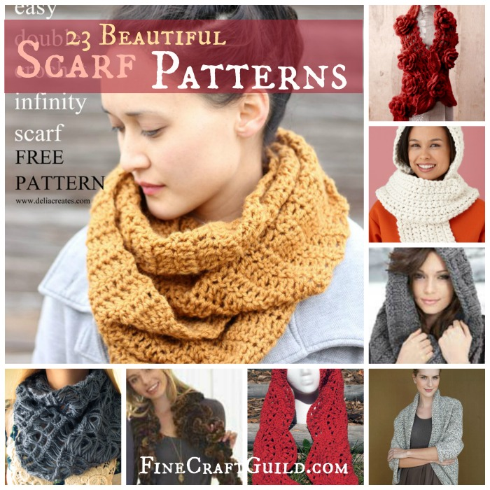 23 Beautiful Scarf Patterns :: FineCraftGuild.com