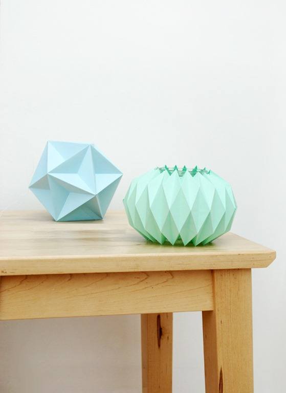 Accordion Paper Fold Vessels