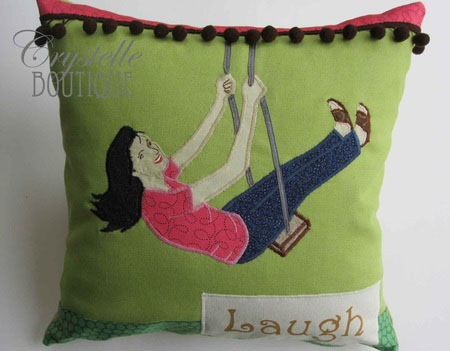appliqued pillows :: fineCraftGuild.com
