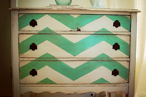 Chevron Dresser Makeover