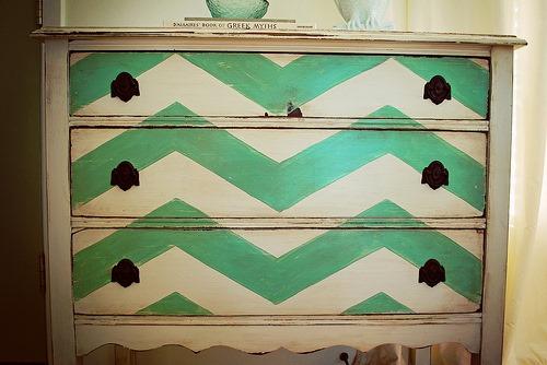 recycled furniture :: chevron dresser :: finecraftguild.com