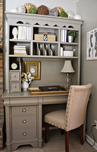 Painted Furniture How to: Hutch – Desk