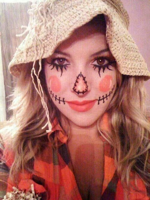 scarecrow makeup pinterest