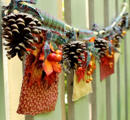 DIY fabric Fall banner
