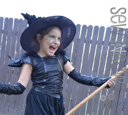 Cutest Girls Halloween Witch Costume :: Featured at FineCraftGuild.com