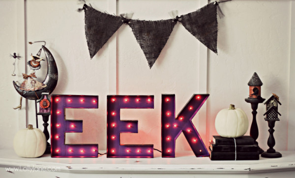 halloween decor letters