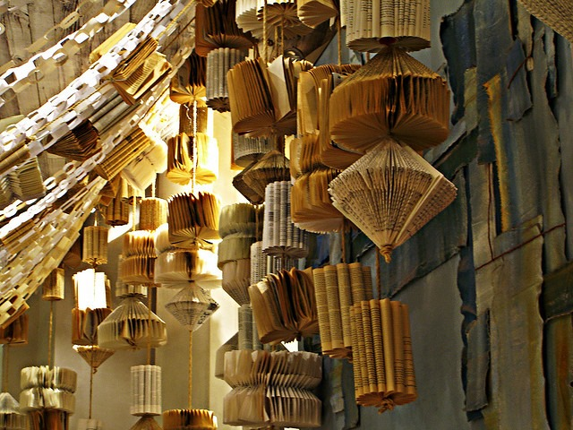 recycled books art anthropologie like home decor