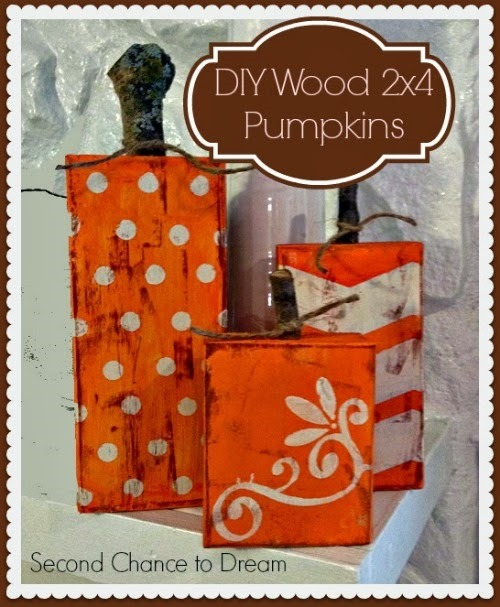 Recycled Wooden Decorative Pumpkins