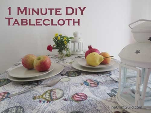 hot air balloon crafts :: how to sew a table cloth :: finecraftguild.com