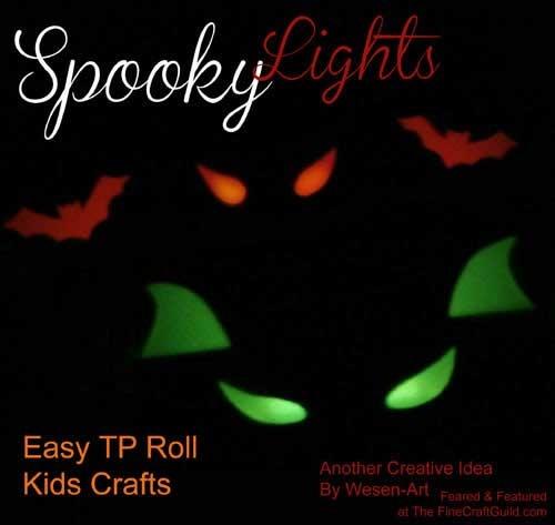 Glow in the dark halloween projects for Glow sticks in toilet paper rolls