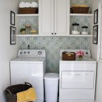 Laundry Room Makeover w Easy DIY Wall Stencils